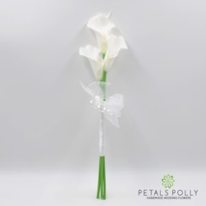 White teal touch calla lily bridesmaids wand