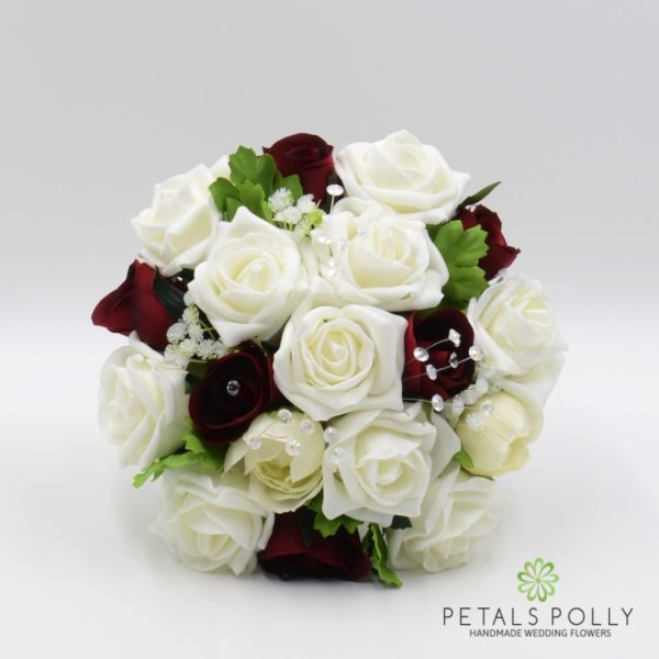 Burgundy & Ivory Rose with Ranunculus Package