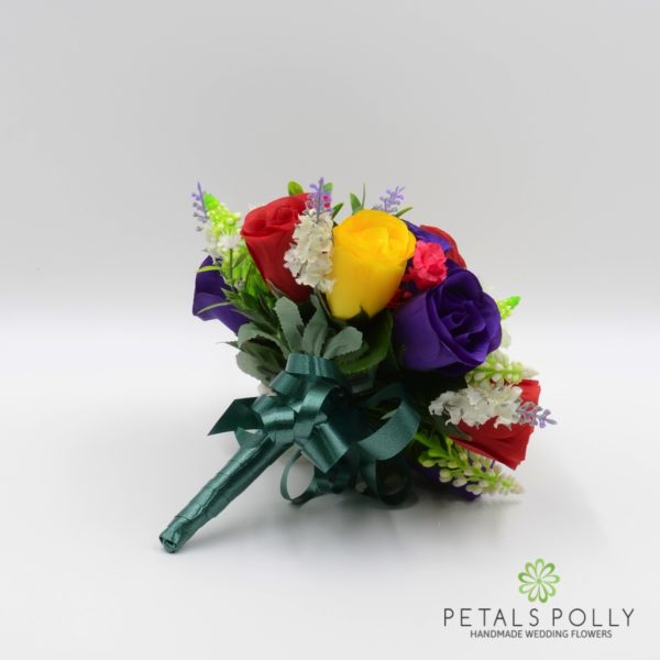 Multi-coloured Rose with Daisies & Lavender Package