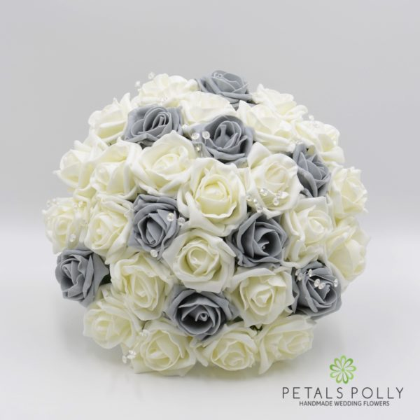 Grey & Ivory Rose Package