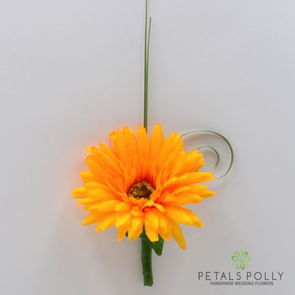 Yellow Gerbera Buttonhole