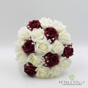 Burgundy & Ivory Foam Rose Package