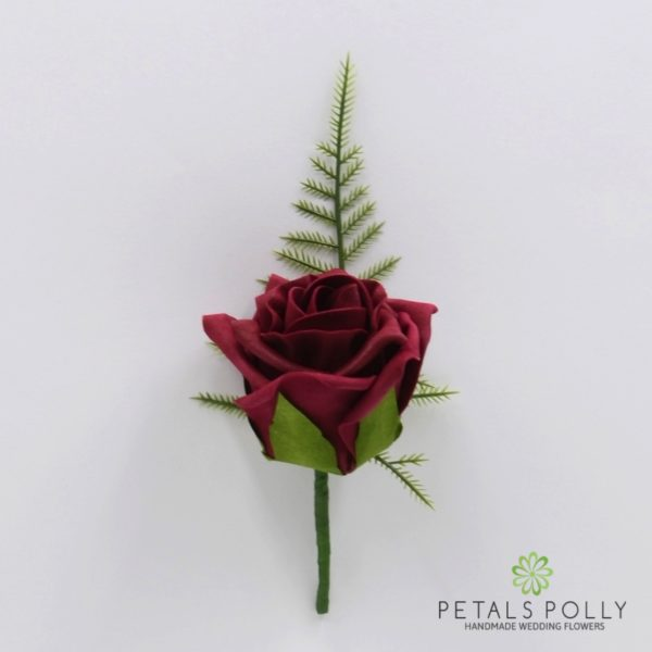 Burgundy & Ivory Foam Rose Package