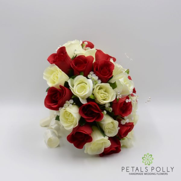 Red & Ivory Rose Brides Posy