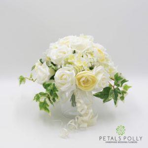 silk ivory jam jar vase decoration posy