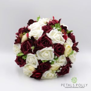 Burgundy & Ivory Rose with Ranunculus and Hydrangea Package