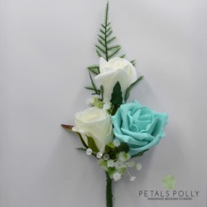 tiffany triple rose corsage buttonhole