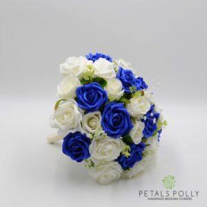 blue rose brides posy