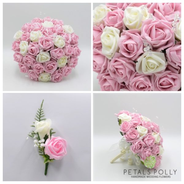 Baby Pink, Antique Pink, Blush Pink & White Rose Package