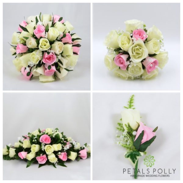 Baby Pink & Ivory Rose Package