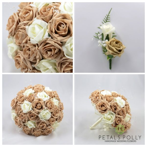 Cappuccino & Ivory Rose Package