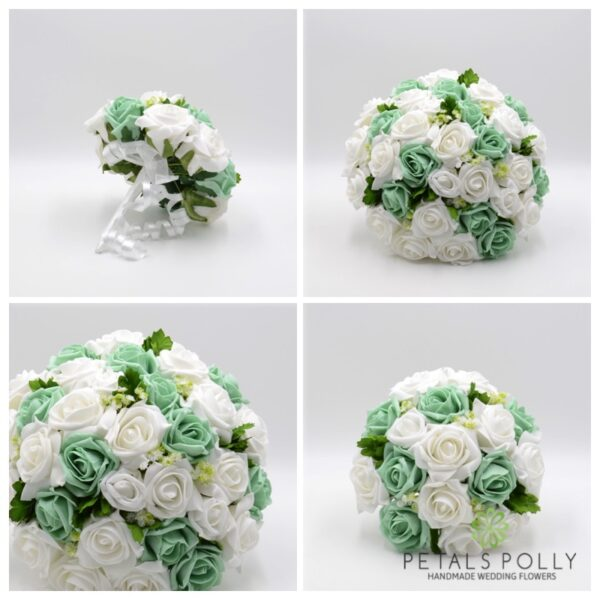 Mint Green & White Rose Package