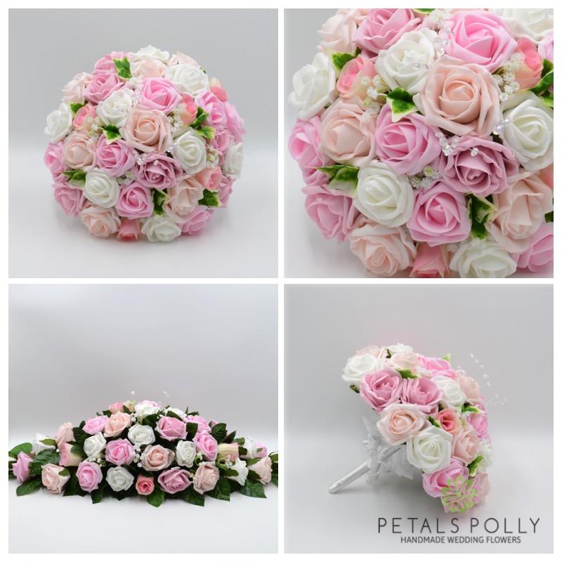 Baby Pink, Antique Pink, Blush Pink & White Rose Package