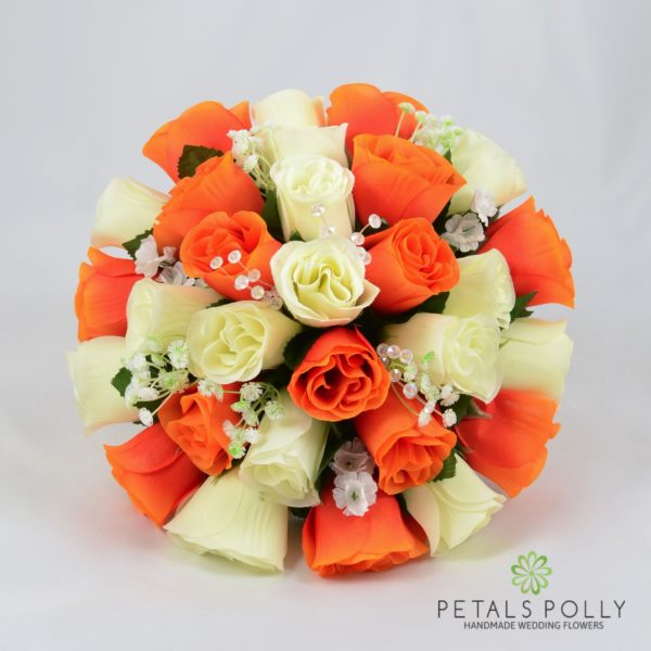 Orange & Ivory Rose Package