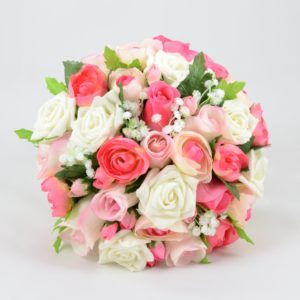 mixed pink artificial wedding flower package