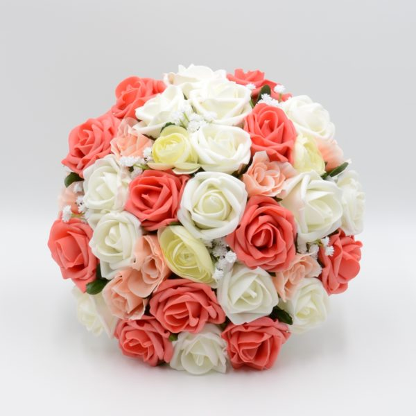 Coral, Peach & Ivory with Ranunculus Package