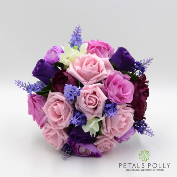 Purple & Antique Pink with Ranunculus & Lavender Package