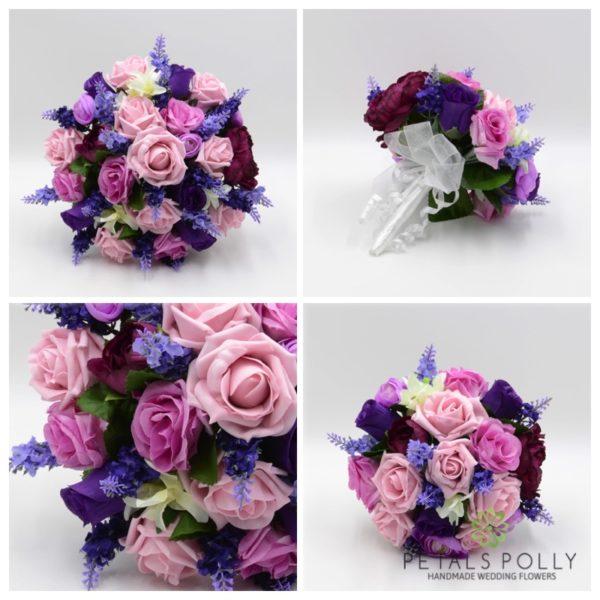 Purple & Ivory Rose Package