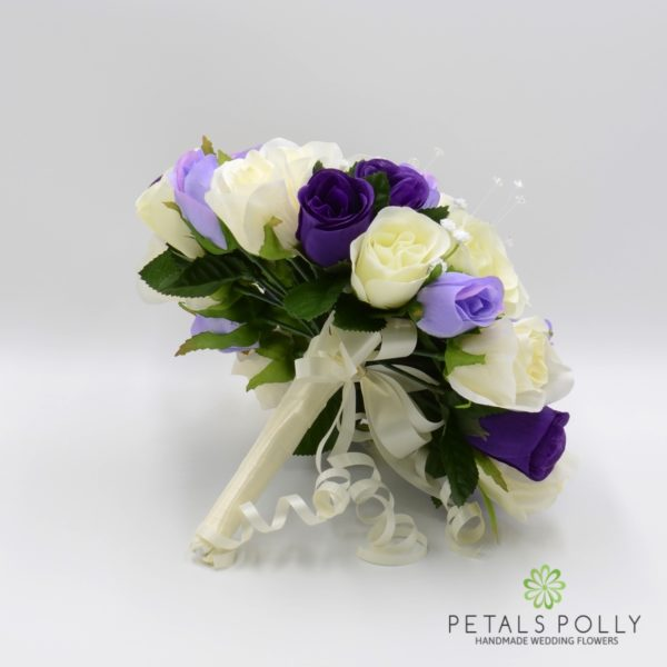 Purple, Lilac & Ivory Rose Package