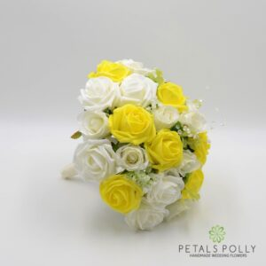 yellow brides bouquet