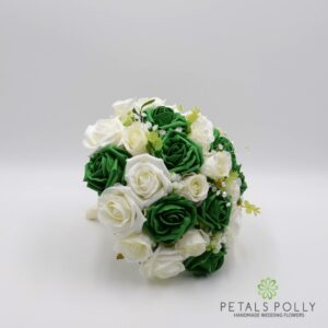 emerald green brides bouquet