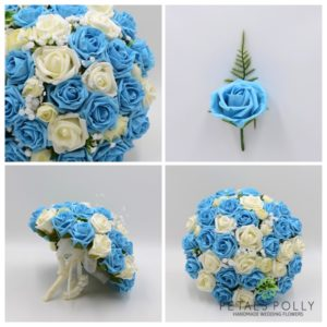 turquoise aqua wedding flower package
