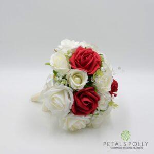 red silk bouquet