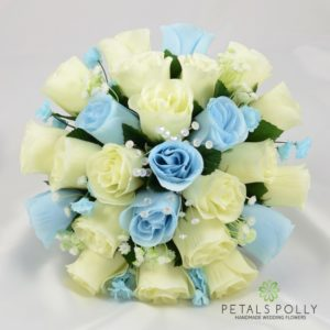 baby blue brides bouquet