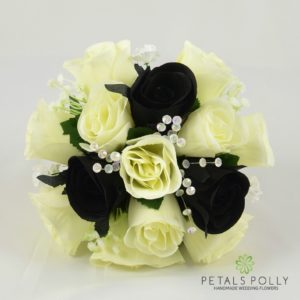 black ivory wedding flowers