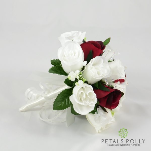 Red & Ivory Rose Bridesmaids Posy