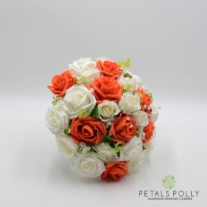 orange rose brides posy