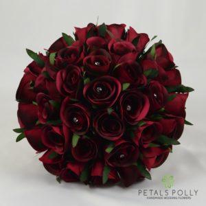 burgundy brides bouquet
