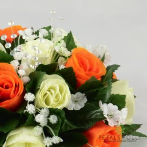orange rose table decoration