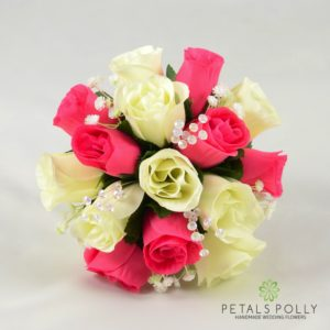 hot pink bridesmaids posy