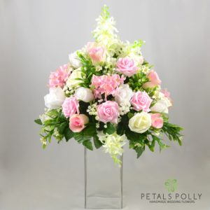 martini glass flowers centrepiece