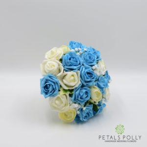 aqua turquoise foam bridesmaids posy