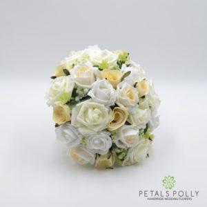 Champagne silk wedding bouquet