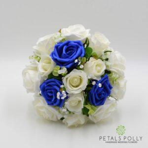 royal blue bridesmaids flowers