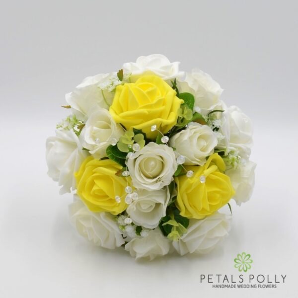 Royal Blue & Ivory Rose Bridesmaids Posy