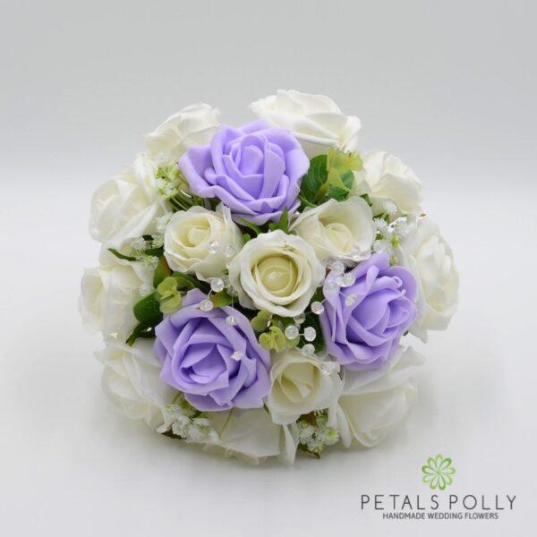 Royal Blue & Ivory Rose Bridesmaids Posy