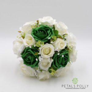 green bridesmaids bouquet