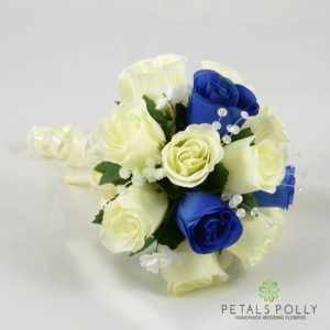 royal blue bridesmaids bouquet