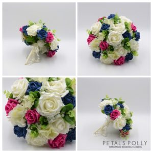 teal pink wedding flower package