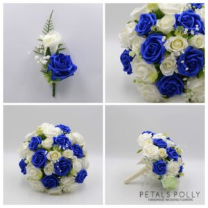 royal blue wedding flower package