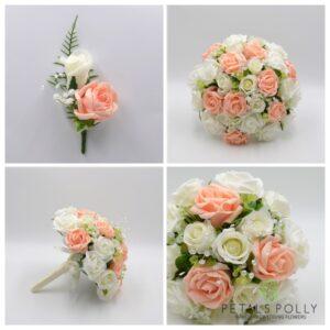 peach wedding flower package