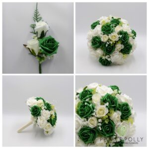 emerald green wedding flower package