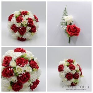 RED WEDDING FLOWER PACKAGE