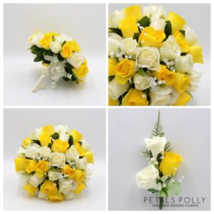 yellow wedding flower package