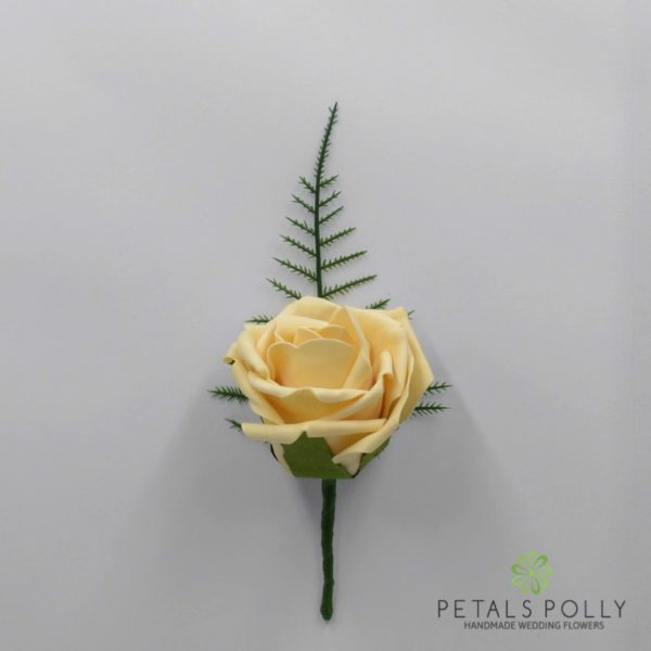 Emerald Green Single Foam Rose Buttonhole