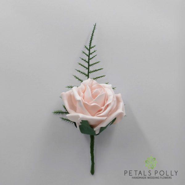 Emerald Green Single Foam Rose Buttonhole